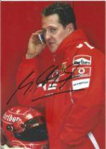 Michael Schumacher F1 legend signed 6 x 4 inch colour photo