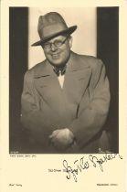 Casablanca actor Szoke Szakall Cuddles signed vintage 6 x 4 inch sepia photo