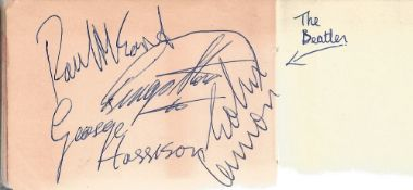 The Beatles secretarial signed album page Neil Aspinall plus Royall Command book.