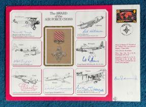WW2 rare Arthur Harris Bomber Command multiple signed RAF Medal cover