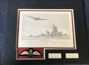 Robert Taylor WW2 Dambuster Print and Autograph presentation