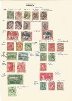 Jamaica, stamps on loose sheet, 1850/1938, approx. 30. Good condition. We combine postage on