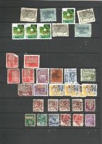 USA, Malta, Switzerland, Germany, Australia, stamps on album leaves, approx. 200. Good condition. We