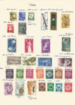 Indo China, Kedah, Iraq, Iceland, Cochin, Israel, stamps on loose sheets, approx. 60. Good