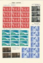 Great Britain, King George VI and Queen Elizabeth II, stamps on loose sheets, approx. 100. Good