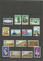 Gilbert Islands, Norfolk Island, Samoa, Nine, Guernsey, approx. 30 stamps, mint condition. Good
