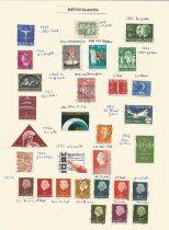 Netherlands, Netherlands Indies, Indonesian Republic, 1870/1956, stamps on loose sheets, approx. 50.