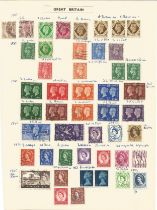 Great Britain, King George VI and Queen Elizabeth II, stamps on loose sheet, approx. 40. Good