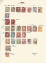 Japan, stamps on loose sheets, 1876/1976, approx. 30. Good condition. We combine postage on multiple