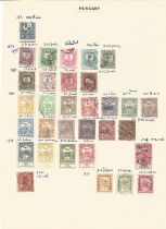 Hungary, stamps on loose sheets, 1871/1962, approx. 100. Good condition. We combine postage on