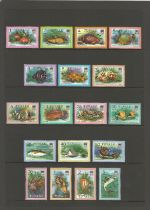 Tuvalu, Grenada, Norfolk Islands, miniature sheets and approx. 50 stamps. Good condition. We combine
