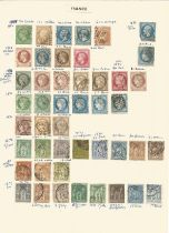France, 1853/1920, stamps on loose sheets, approx. 80. Good condition. We combine postage on
