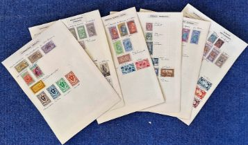 French Colonies including Cameroons, Madagascar, Algeria, Gabon, Morocco, stamps on loose sheets,