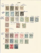 Cuba, Crete, Cyprus, Curacao, Netherlands, New Guinea, stamps on loose sheets, approx. 50. Good