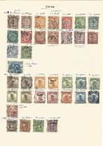 China, 1898/1956, stamps on loose sheets, approx. 30. Good condition. We combine postage on multiple