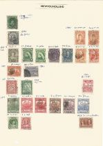 Newfoundland, 1887/1941, New South Wales, 1860/1892, stamps on loose sheets, approx. 45. Good