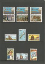 Cook Islands, Grenada, miniature sheets and approx. 15 stamps. Good condition. We combine postage on