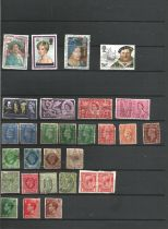 Great Britain, Ireland, Isle of Man, stamps on album leaves, approx. 200. Good condition. We combine