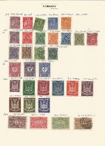 Germany, stamps on loose sheets, approx. 60. Good condition. We combine postage on multiple