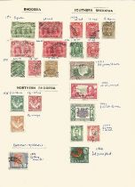 Rhodesia, Northern Rhodesia, Southern Rhodesia, Cook Islands, Niger Coast, Lagos, Southern