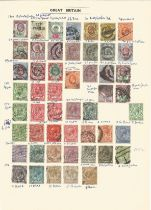 Great Britain, Edward VII and George V, stamps on loose sheet, approx. 50. Good condition. We