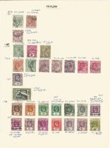 Ceylon, stamps on loose sheets, 1872/1938, approx. 35. Good condition. We combine postage on