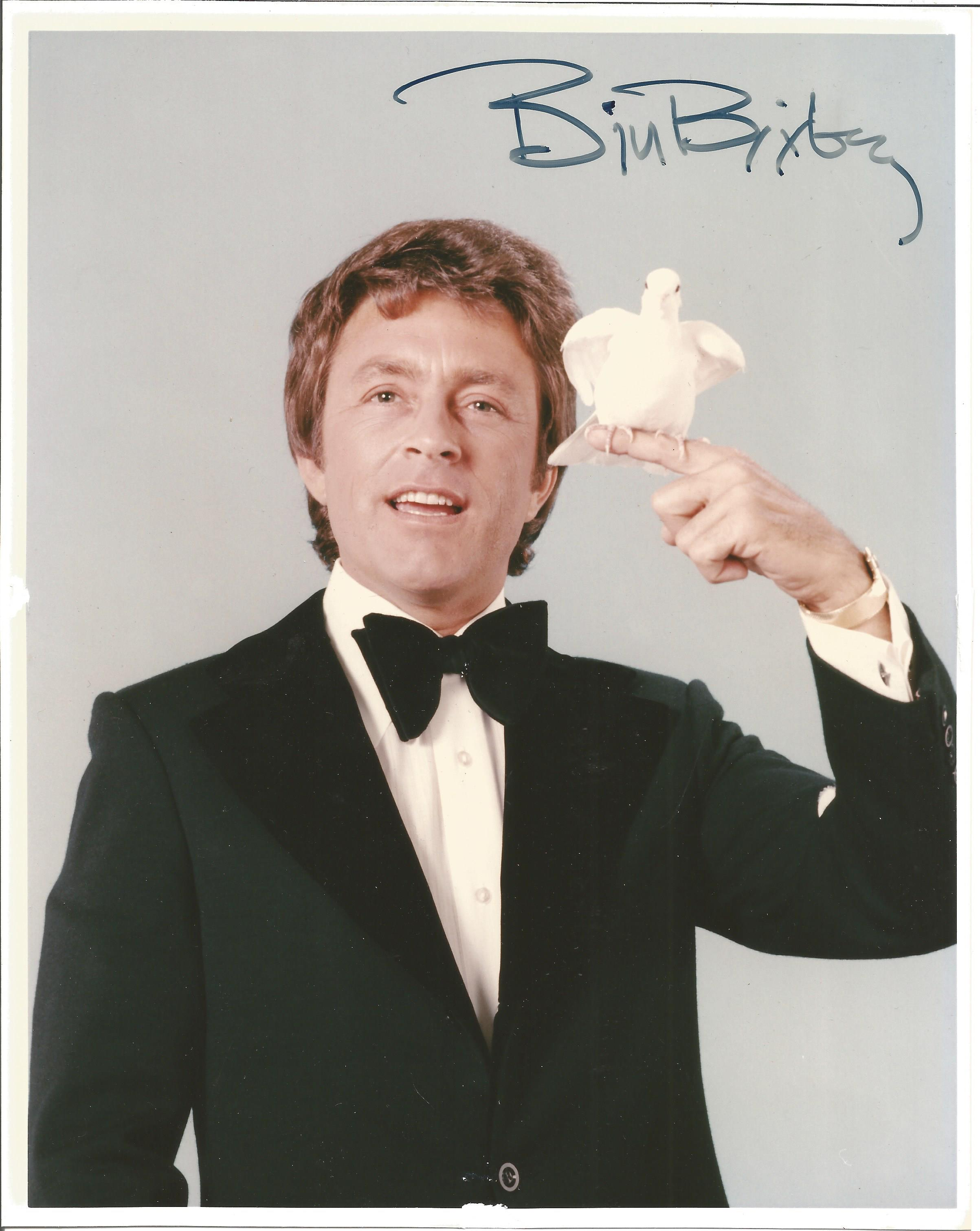 Entertainer Bill Bixby signed 10x8 colour photo. Bill Bixby was an American actor, director,
