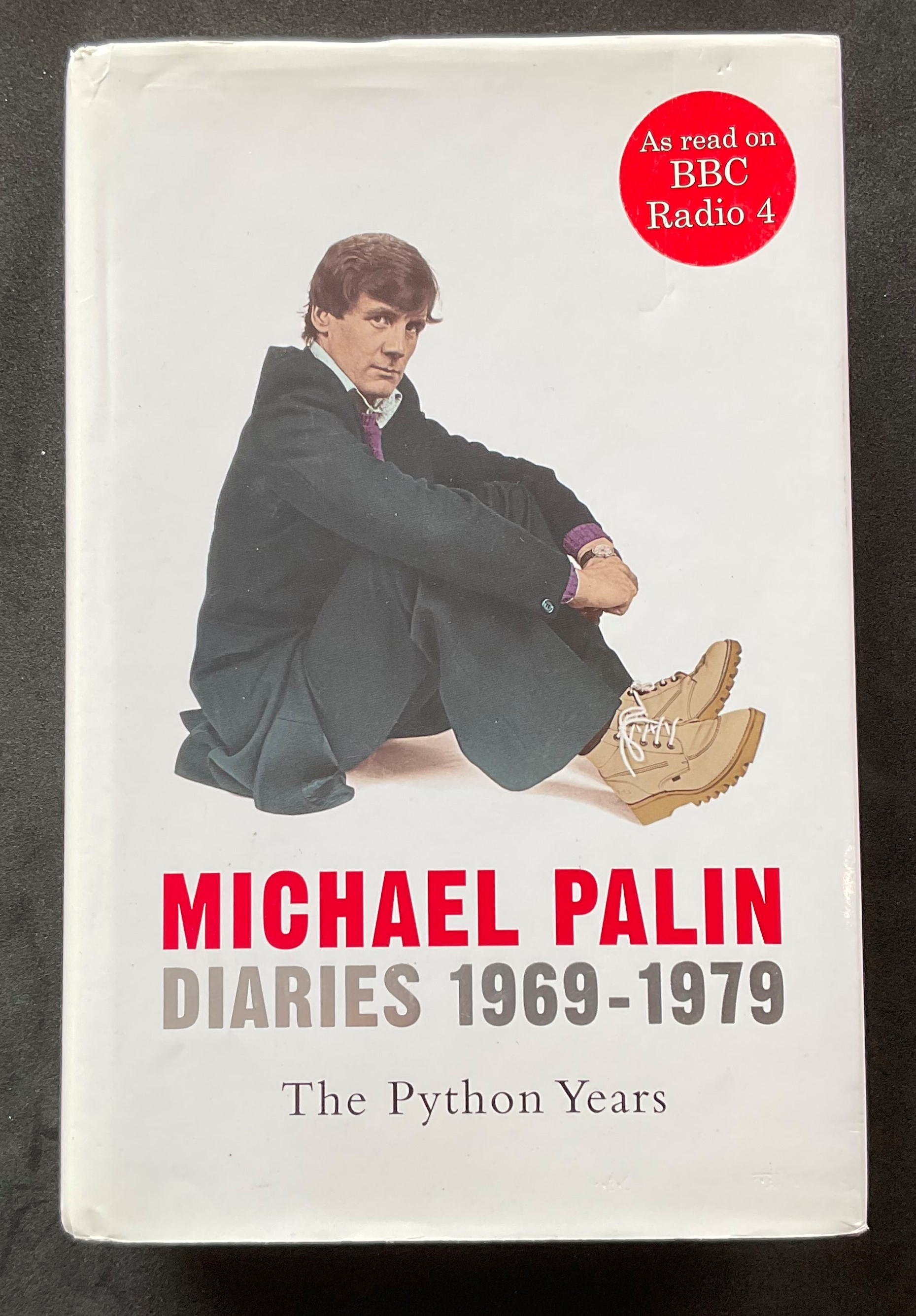 Actor and comedian Michael Palins autobiography, The Python Years 1969-79, signed and dedicated to