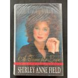 Actress Shirley Anne Fields book A Time for Love, signed by Field on the title page and dedicated to