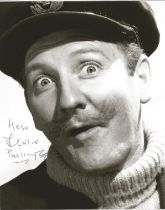 Actor Leslie Phillips signed 10x8 black and white image. Leslie Phillips CBE is an English actor. He