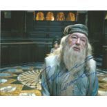 Actor Michael Gambon signed 10x8 in character as Professor Dumbledor from the Harry Potter film