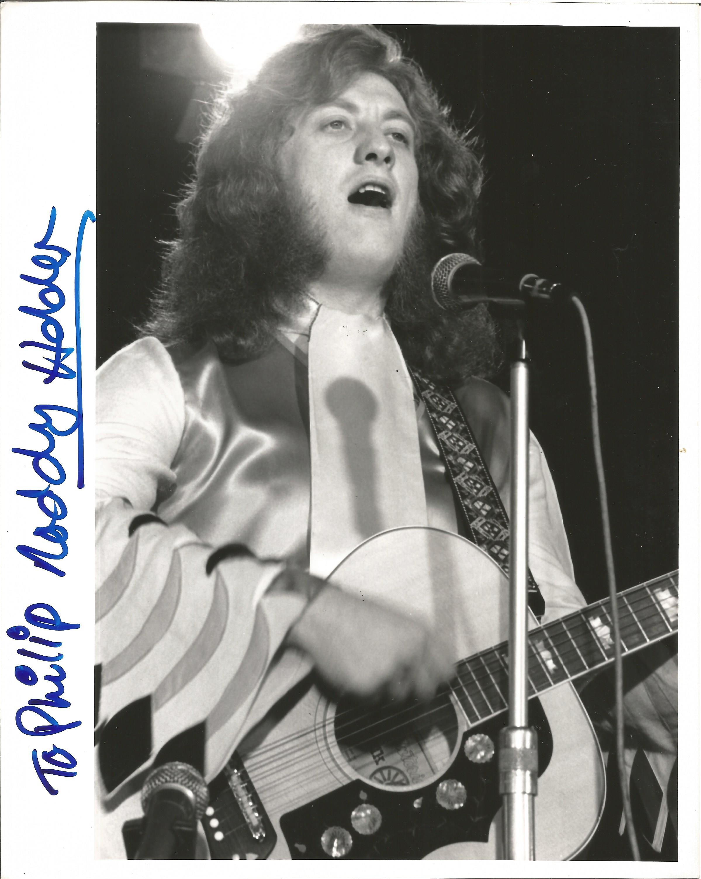 Musician Noddy Holder signed 10x8 black and white image, dedicated to Philip. Neville John Noddy