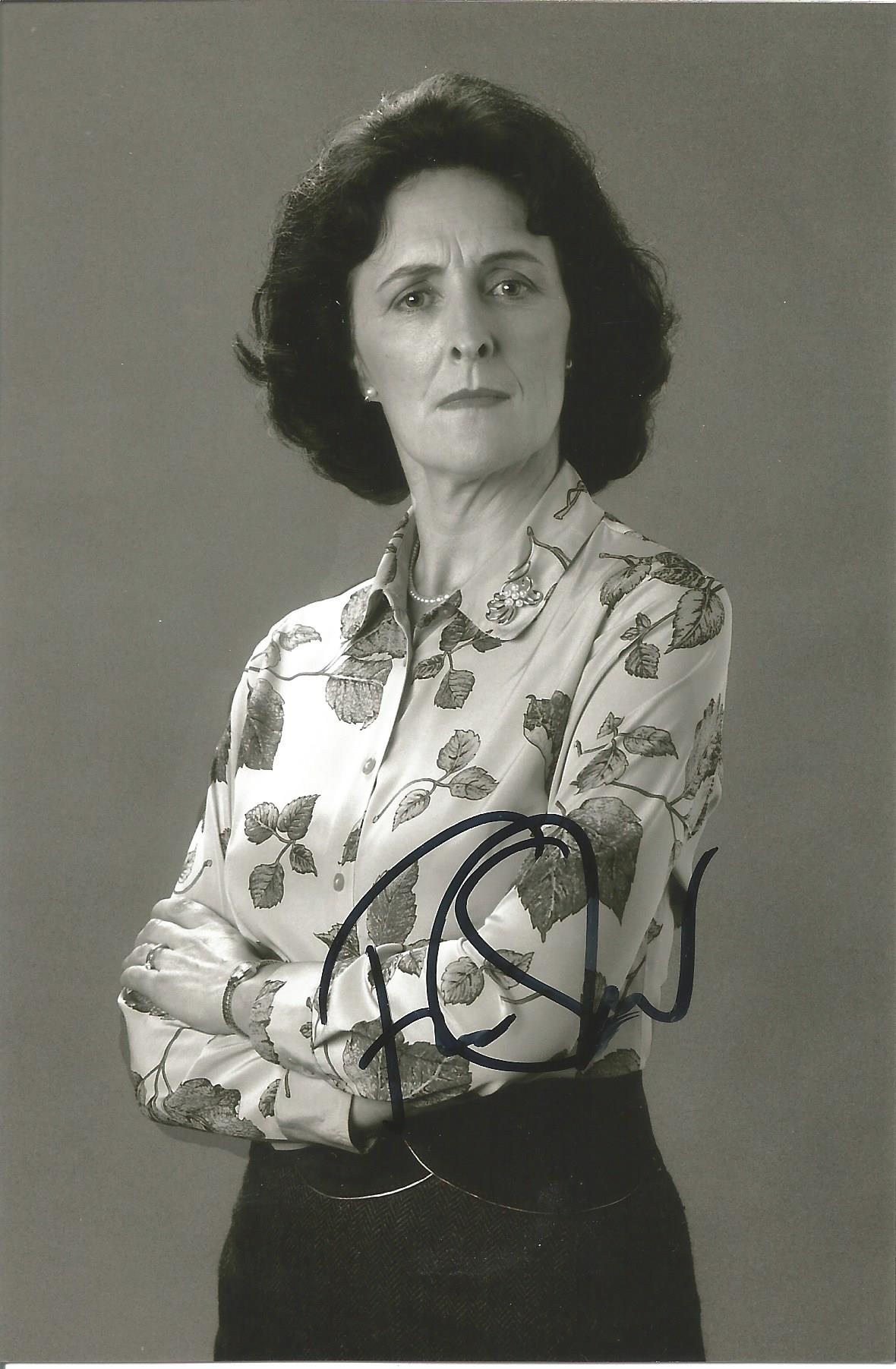 Actress Fiona Shaw signed 6x4 black and white photo. Fiona Shaw CBE is an Irish actress and