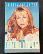Actress Faye Dunaways autobiography Looking for Gatsby, signed and dedicated to Don. Dorothy Faye