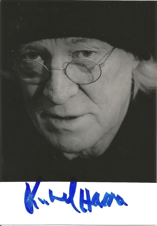 Actor Richard Harris signed 5x3½ black and white photo. Richard John Harris was an Irish actor and