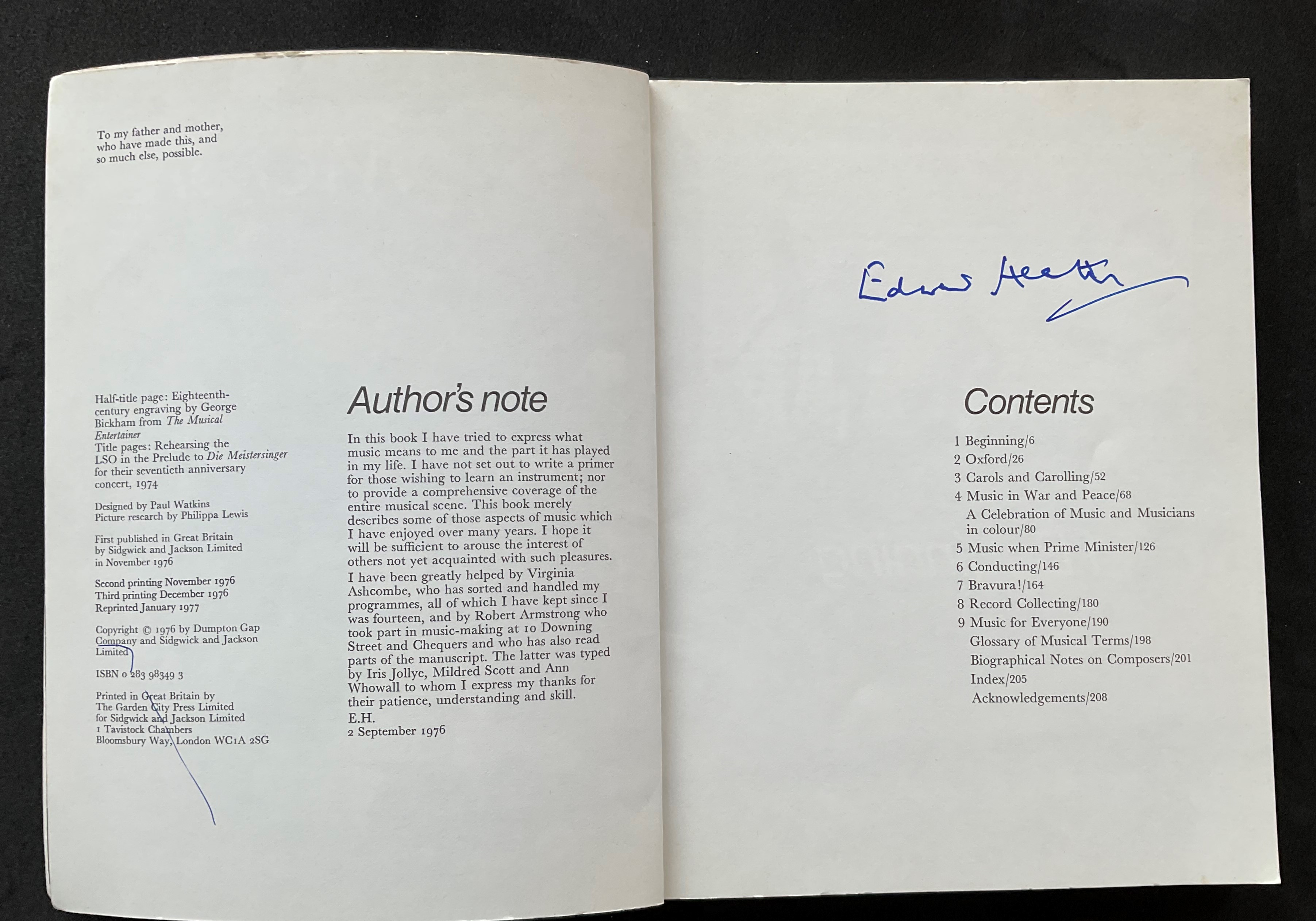Former Prime Minister Edward Heaths book Music signed paperback copy. Sir Edward Richard George - Image 2 of 2