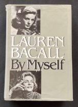 Actress Lauren Bacall's autobiography By I, signed on the first page, hardback copy, dust jacket a