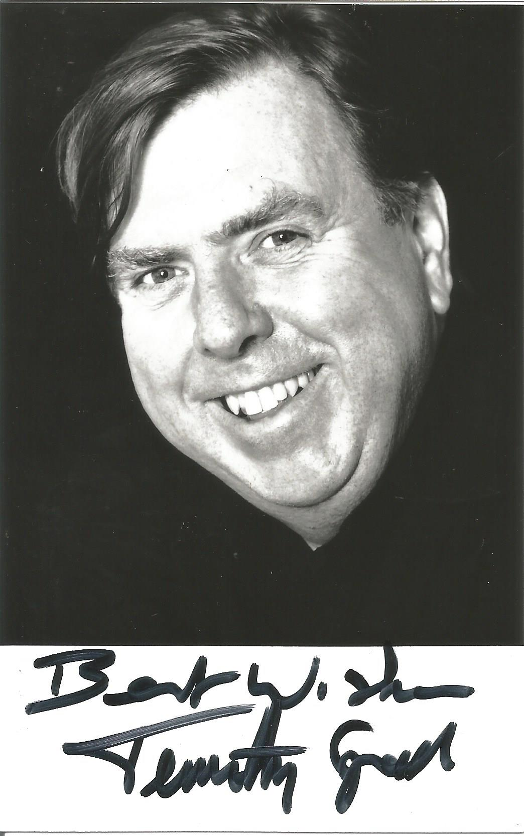 Actor Timothy Spall signed 5½x3½ black and white photo. Timothy Leonard Spall OBE is an English