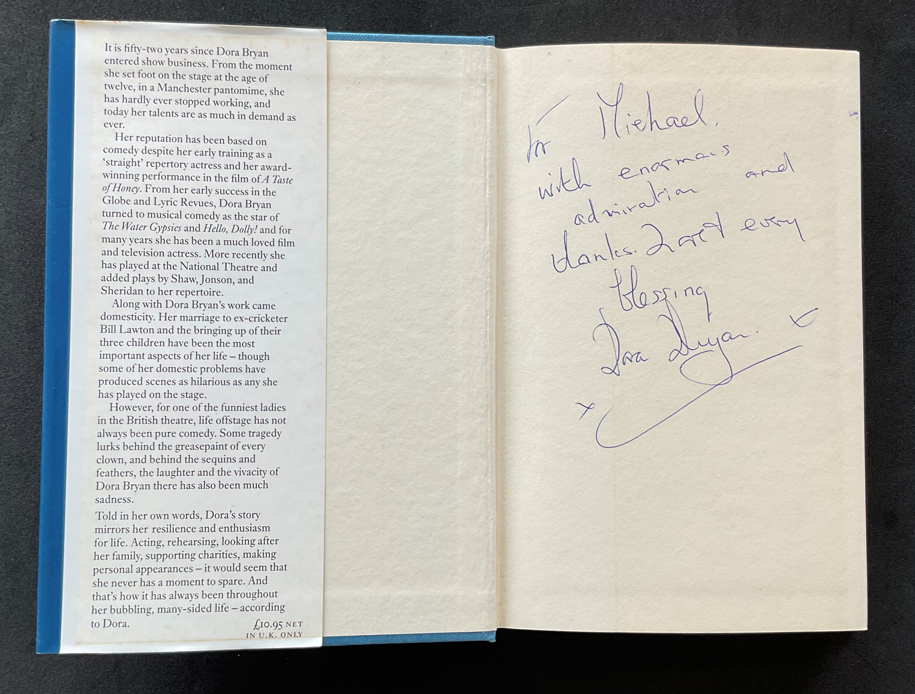 Actress Dora Bryans autobiography According to Dora, with nice inscription on the first page - Image 2 of 3