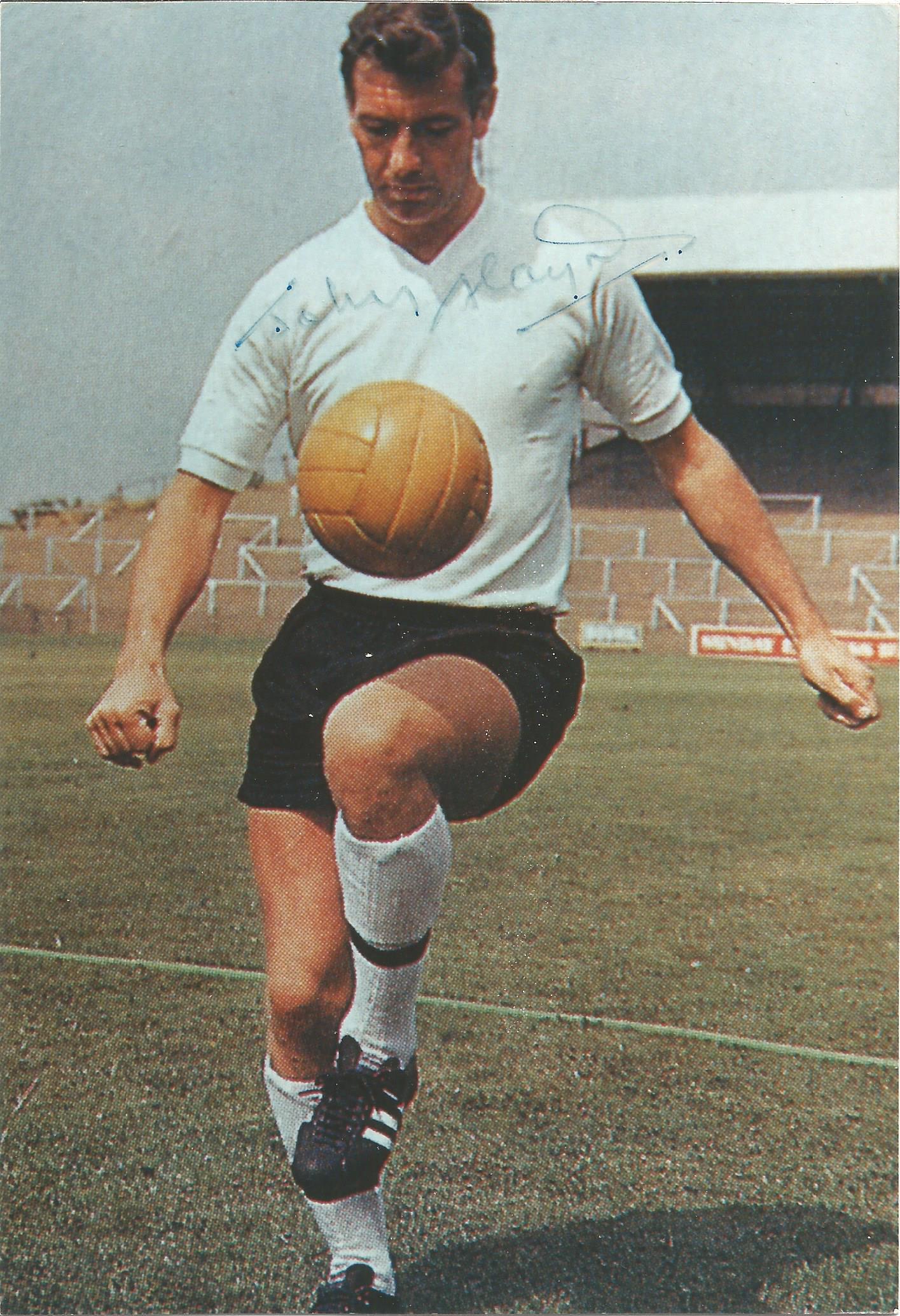 Footballer Johnny Haynes signed 7x5 colour photo. John Norman Haynes was an English football player.