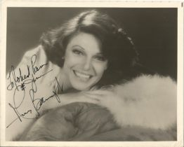 Actress Anne Bancroft, signed 10x8 black and white photo, dedicated to Robert and Pam. Anne Bancroft