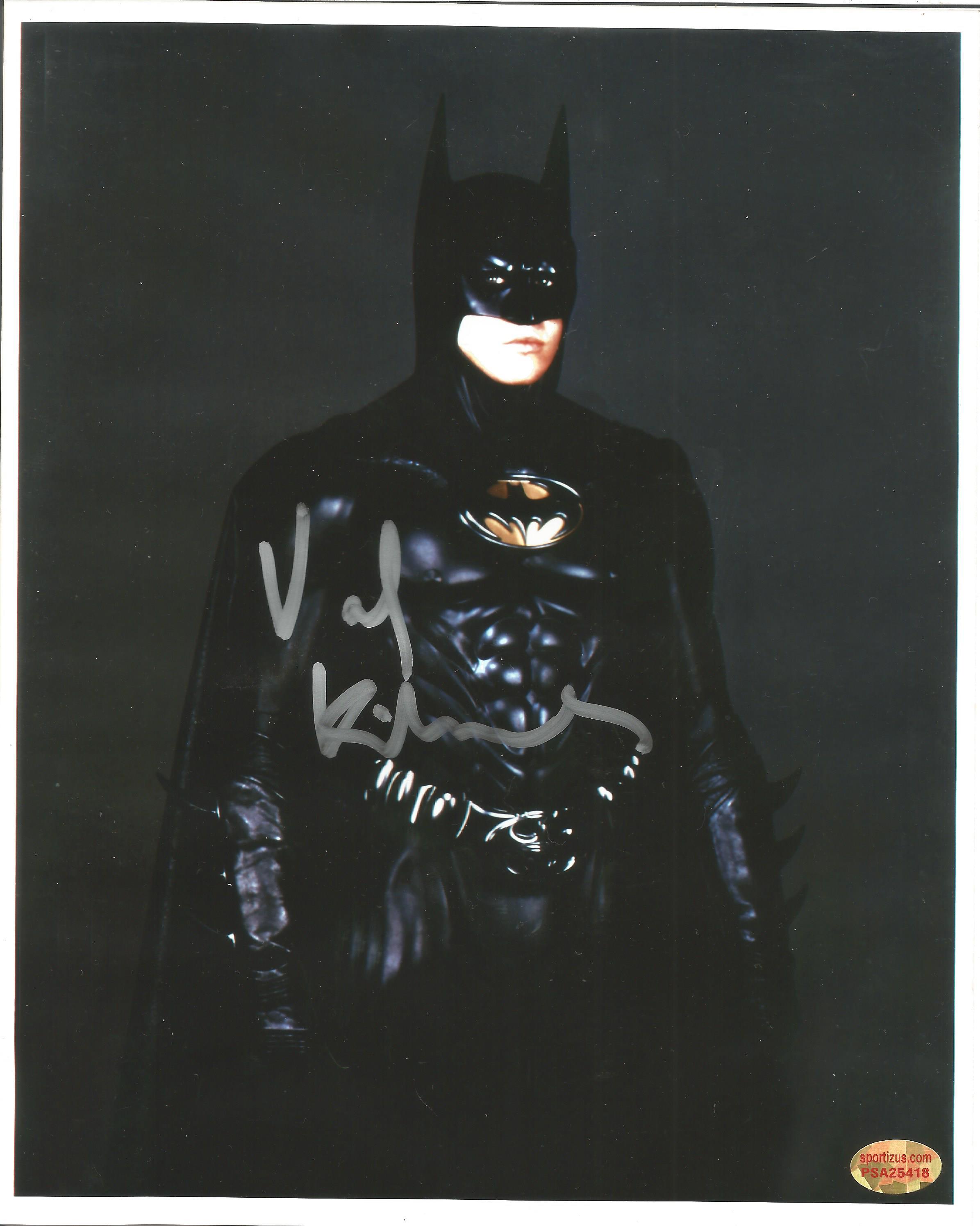 Actor Val Kilmer signed 10x8 colour image in character as Batman. Val Edward Kilmer born December