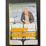 Footballer Jimmy Greaves book The Heart of the Game, signed hardback edition