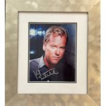 Actor Kiefer Sutherland 10x8 signed colour photo mounted and framed to 19x16 overall. Kiefer William