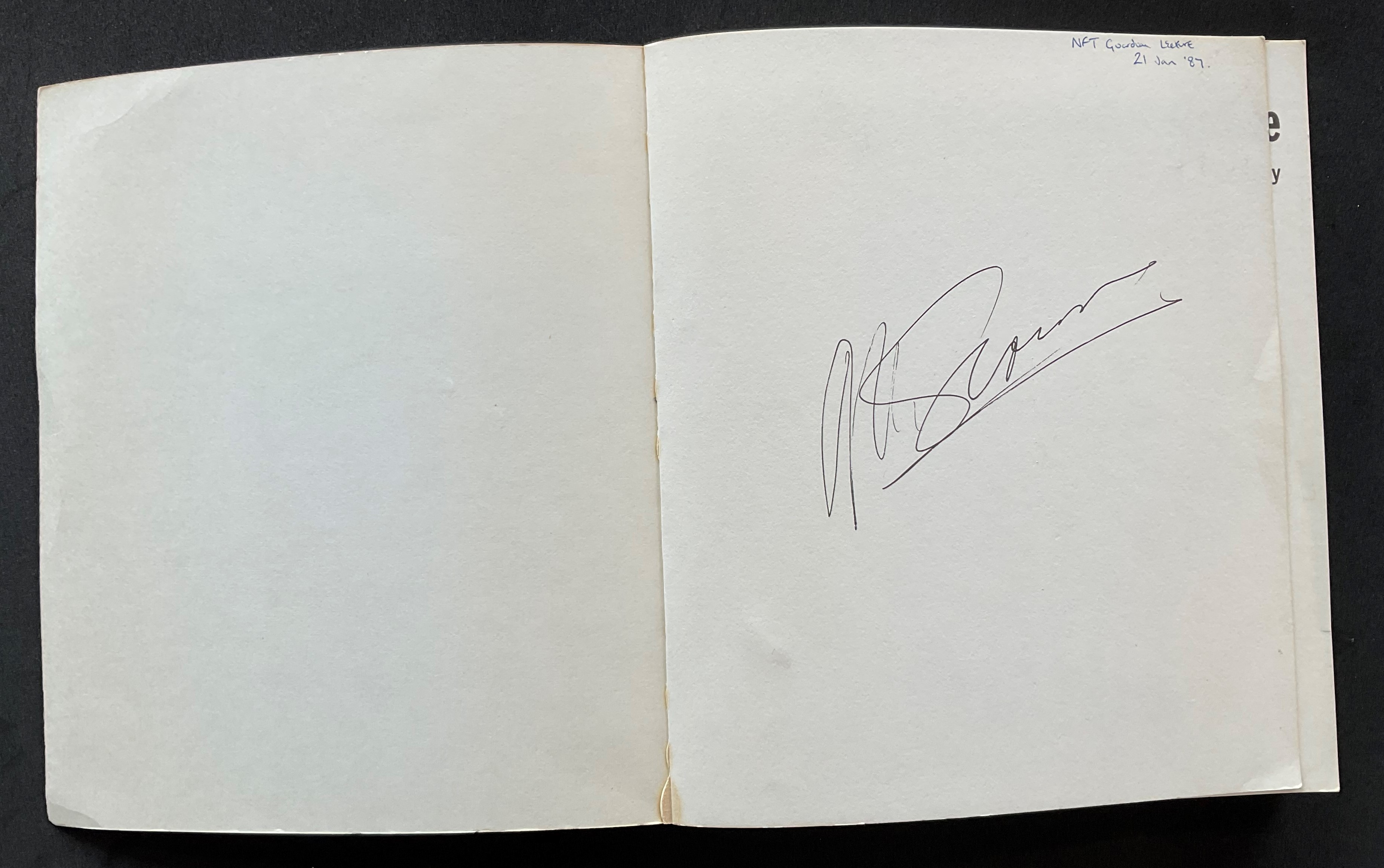 Actor and Director Martin Scorseses biography The First Decade signed on the first page. An - Image 2 of 3