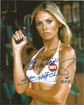 Actress Britt Ekland 10x8 signed colour photo Man with The Golden Gun image dedicated to Steve.
