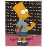 Actress Nancy Cartwright signed 10x8 colour image of Bart Simpson. Nancy Jean Cartwright is an