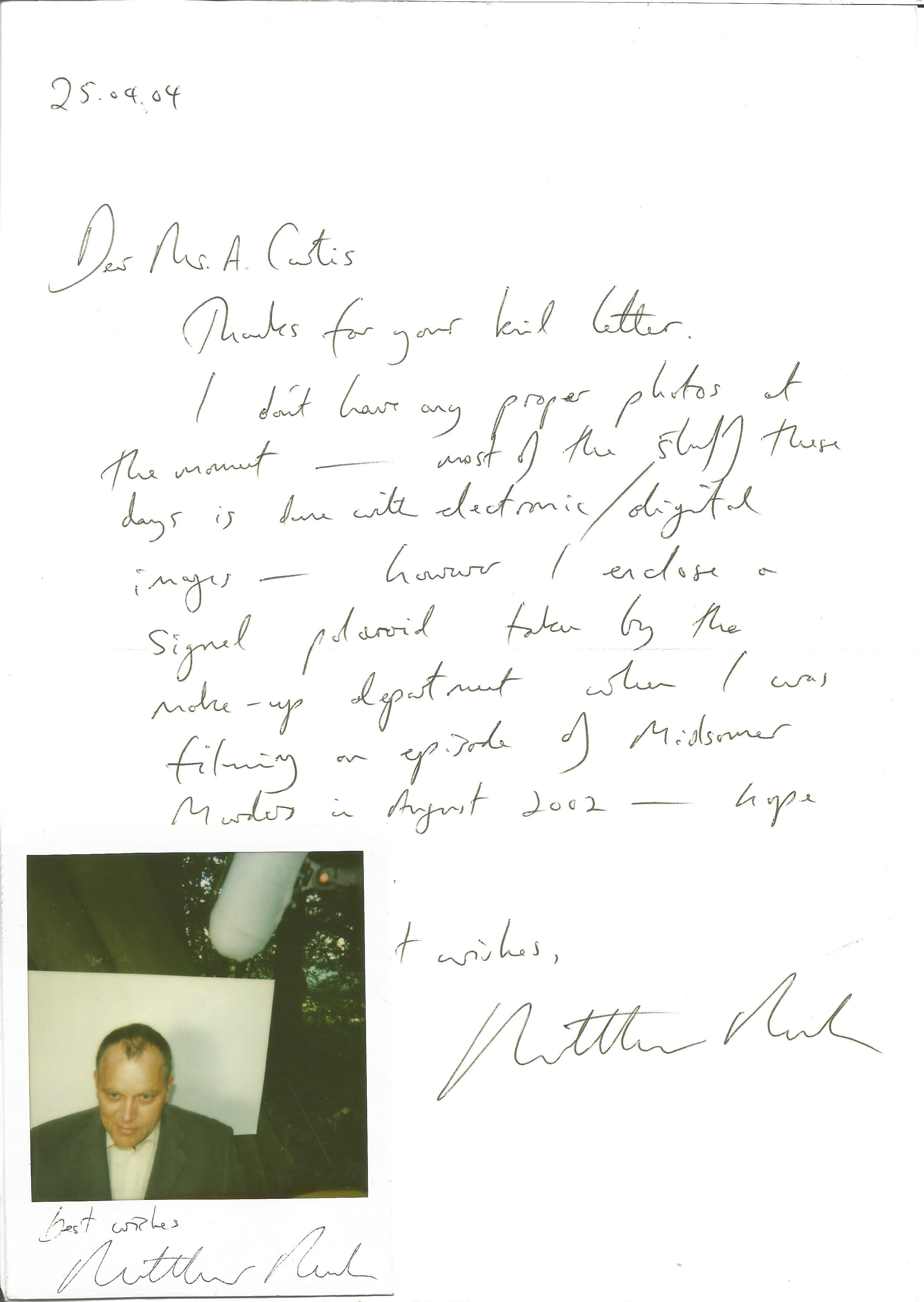 Actors letter collection Graham Bickley, Tim Woodward, Matthew Marsh, Andy Lucas - Image 2 of 3