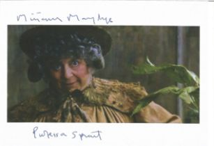 Actress Miriam Margolyes signed 8x6 colour photo in character as Professor Sprout from the Harry