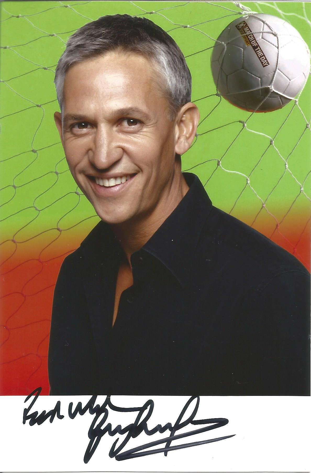 Footballer Gary Lineker signed Match of the Day script and running order for Saturday 17th April - Image 2 of 3